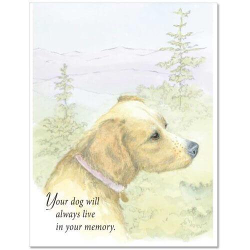 S03 Dog Sympathy Card