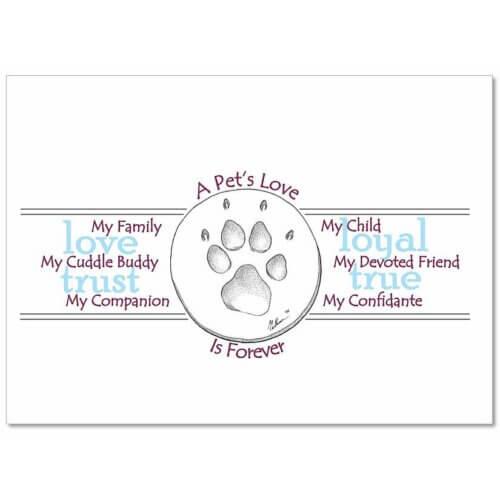 CCAPL Pet Sympathy Card