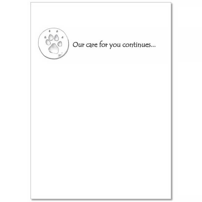 CCHHP Pet Sympathy Card