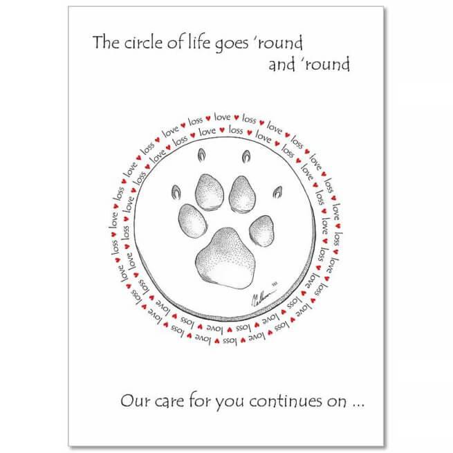 CCLLC Pet Sympathy Card
