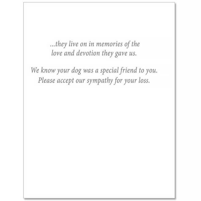 S11 Dog Sympathy Card
