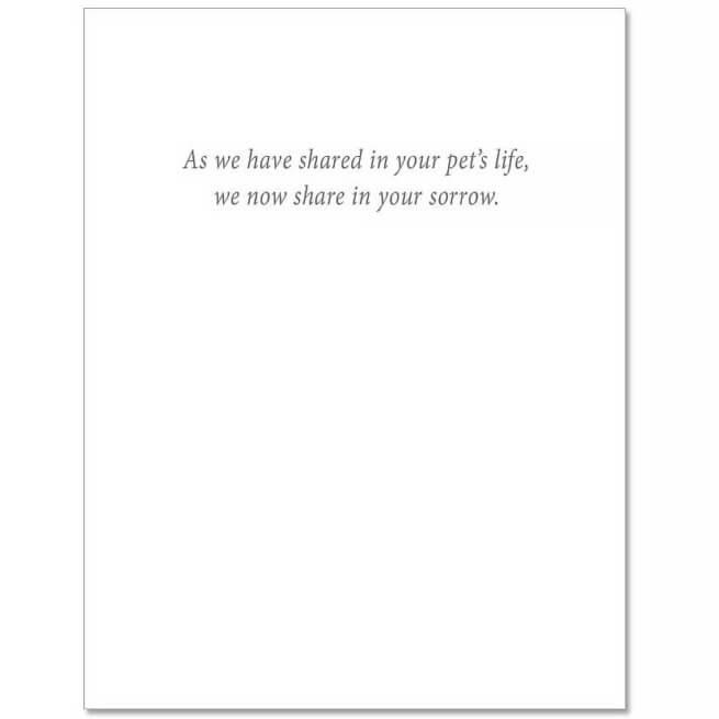 S12 Pet Sympathy Card