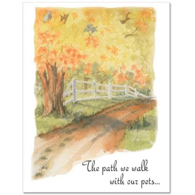 S200 Pet Sympathy Card