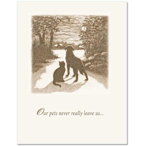 S75 Pet Sympathy Card