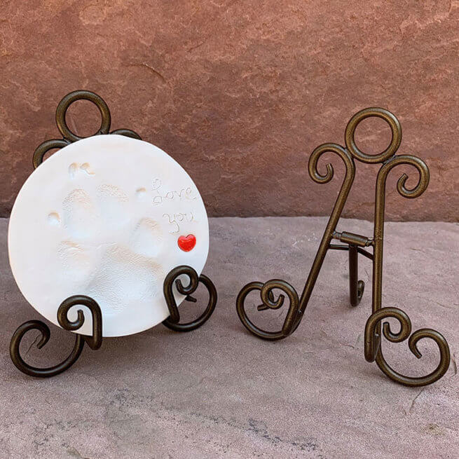 Bronze Curls Bamboo Easel with Print