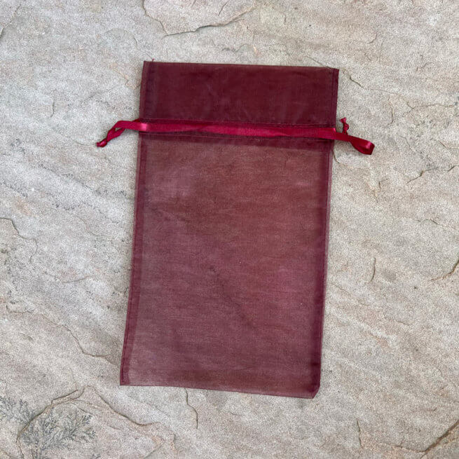Burgundy Keepsake Bag