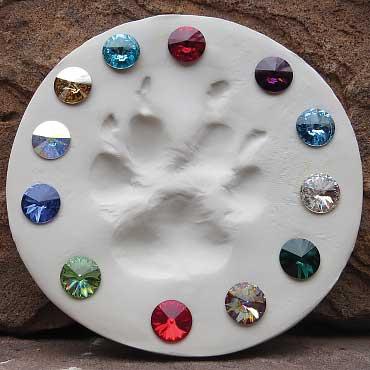 Gemstones in ClayPaws Print