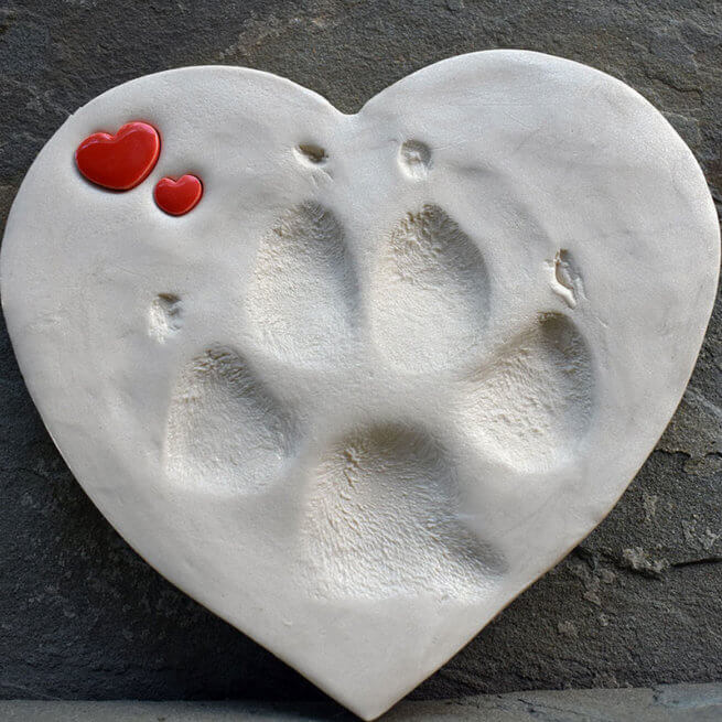 Large and Small NEW Ceramic Red Hearts 1