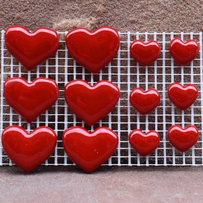 Premium Mixed Red Hearts