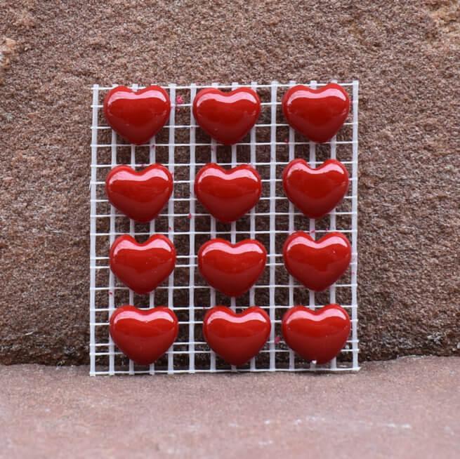 Premium Small Red Hearts