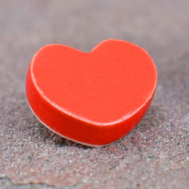 Small Ceramic Red Heart WEB