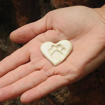 Pocket Paw Print Stone