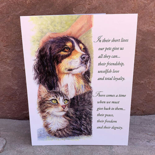 All Fixed-Message Pet Sympathy Cards